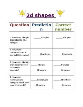 2D shapes pattern blocks