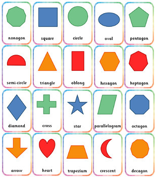 2D shapes resource pack: printables and posters for Kindergarten