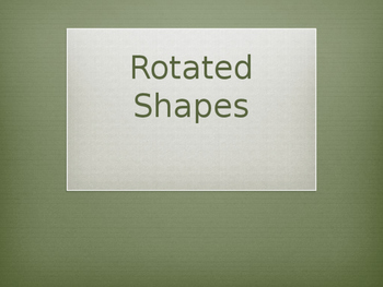 2D straight and Rotated shapes