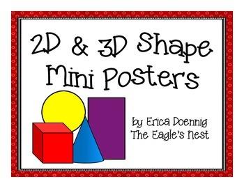 2D/3D Shape Mini Posters