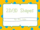 2D/3D Shapes Packet