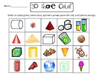 2D/3D Shapes Packet
