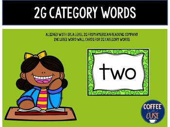 2G Category Words IRLA