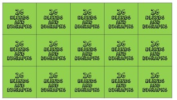 2G IRLA Blends and Digraphs Game