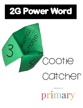 2G Power Word Cootie Catcher