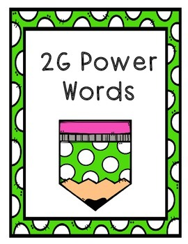 IRLA - 2G: Power Words - Flashcards