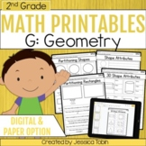 Geometry- 2nd Grade Math Printables Worksheets