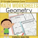 2nd Grade Math Worksheets for Geometry - Digital Printable