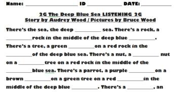 2G The Deep Blue Sea - LISTENING, QUESTIONS & VOCABULARY - Decker ESL