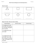 (2.G.1) 2D Shapes [Part 1] - 2nd Grade Common Core Math Worksheets-4th 9 Weeks