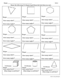 2.G.1, 2.G.2, 2.G.3 Geometry Shapes & Partitioning Worksheets
