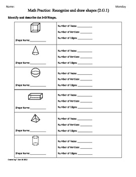 Worksheets Common Core Math Grade 2 Worksheets common core 2nd grade math worksheets sheets also 2 g 1 3d shapes part by tonya gent core