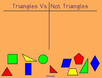 2G1 Geometry 2 Dimensional Shapes Smartboard Activity