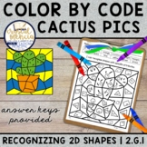 2G1 Recognizing 2D Shapes by Side | Color by Code Mystery
