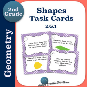 2.G.1 Second Grade Geometry Shapes Task Cards