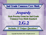 2.G.2 2nd Grade Math Jeopardy Game - Partition a Rectangle Into Rows and Columns