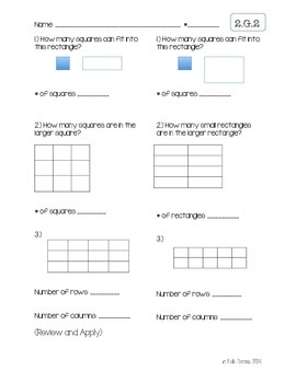 2.G.2 Rows and Columns (Partitioning and Counting Rectangles)