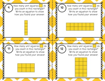 2.G.2 Second Grade Partitioning Rectangles Task Cards