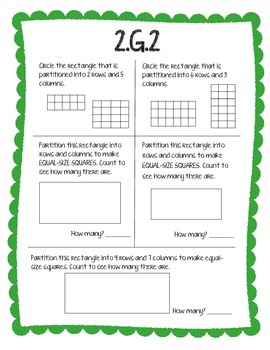 2.G.2 Unit Bundle - 2 activities and 1 assessment to suppoort this standard