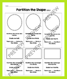 2.G.3 Fractions: Partition Circles and Rectangles: halves, thirds, fourths