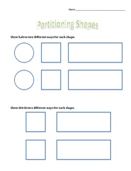 2.G.3 Partitioning Shapes