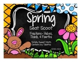 2.G.3 Spring Seat Scoot Class Activity with Halves, Thirds