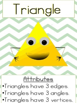 2.GA.1 All About Shapes {Math Center Game, RTI, Posters, Cooperative Learning}