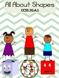 2.GA.1 All About Shapes {Math Center Game, RTI, Posters, C