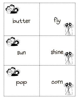 2.L.4d Butterflies, Buttercups, & Compound Word Concentration