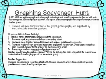 2.MD.10 {Cooperative Learning} Graphing Scavenger Hunt (Math Around the Room)