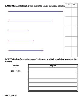 2 md 5 length word problems 2nd grade math worksheets 3rd 9 weeks. Black Bedroom Furniture Sets. Home Design Ideas