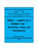 2MD6 - Lengths on a Number Line  - Activites, Game and Worksheets