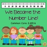 Number Lines 2.MD.6 We Became the Number Line!  Activities and Math Tasks!
