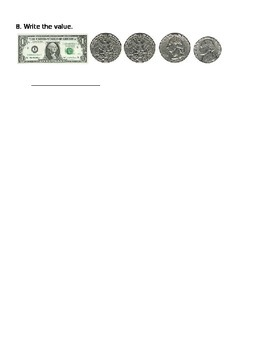 2.MD.8 Counting Dollar Bills and Coins