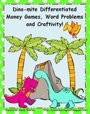 2.MD.8 Dino-mite Differentiated Small Group or Math Station Money Activities!