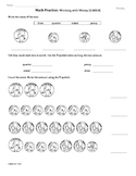 (2.MD.8) Money- 2nd Grade Common Core Math Worksheets- 1st 9 Weeks