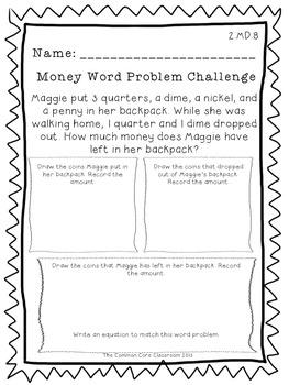 2.MD.8 Money Word Problem Challenge