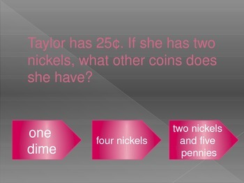 2.MD.8 More Money Word Problems Interactive PowerPoint