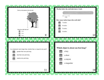 2.MD.A.2, 2.MD.A.3, and 2.MD.A.4 Task Cards