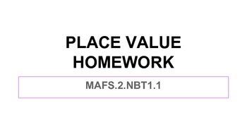 2NBT 1.1 Homework Slide Show for Review