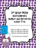 2.NBT Assessments - 2nd Grade NBT Assessments - 2 Tests per Standards!