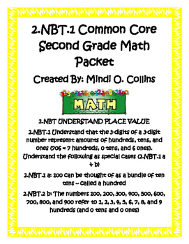 2.NBT Common Core Second Grade Math Packet
