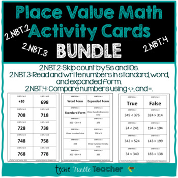 Math Center Cards (Skip Count, Expanded, Word, Standard Form, Compare Numbers)