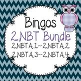 2.NBT Place Value Cluster A Bingo Bundle-2.NBT.A.1-2.NBT.A.2-2.NBT.A.3-2.NBT.A.4