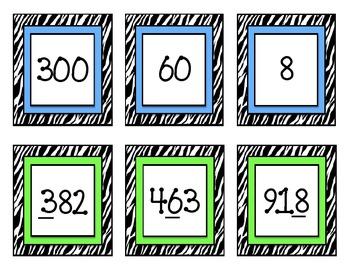 2.NBT.1 & 2.NBT.3: Place Value Pairs ~ A Matching Game