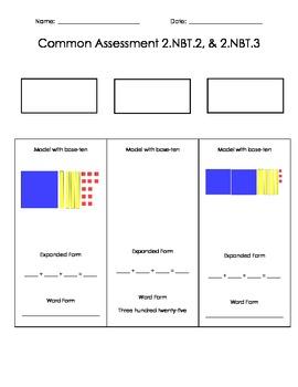 2.NBT.2  2.NBT.3 Assessment
