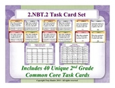 2.NBT.2 2nd Grade Math Task Cards - Place Value, Skip Count by 5, 10, 100