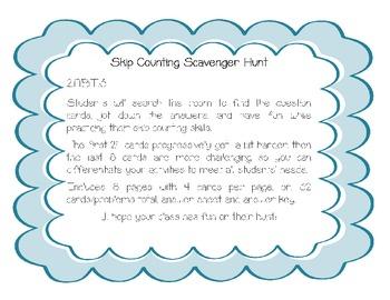 2.NBT.2 Skip Counting Scavenger Hunt