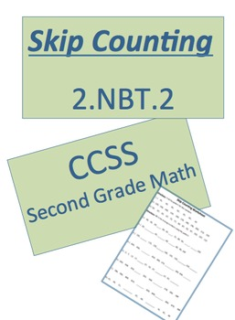 2.NBT.2 Skip Counting Worksheet with Homework