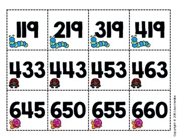 2.NBT.2 Skip Counting by 5s, 10s, and 100s Math Center